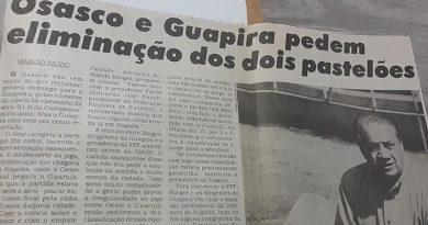 """Edição de 10 de setembro de 1997 do jornal Diário de Osasco trouxe a notícia que Osasco e Guapira queriam a eliminação dos """"pastelões"""""""
