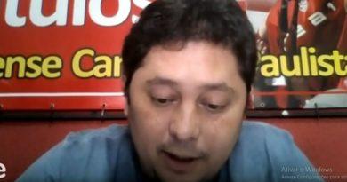 Leandro Assato falou sobre a situação do Linense | Crédito: Reprodução TV Tem