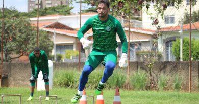Matheus Cavichioli teve poucas chances no Bugre | Crédito: David Oliveira / Guarani FC