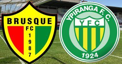 Brusque x Ypiranga será neste sábado