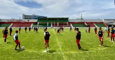 Portuguesa Santista voltou a treinar em Santos | Crédito: Nathalia Perez