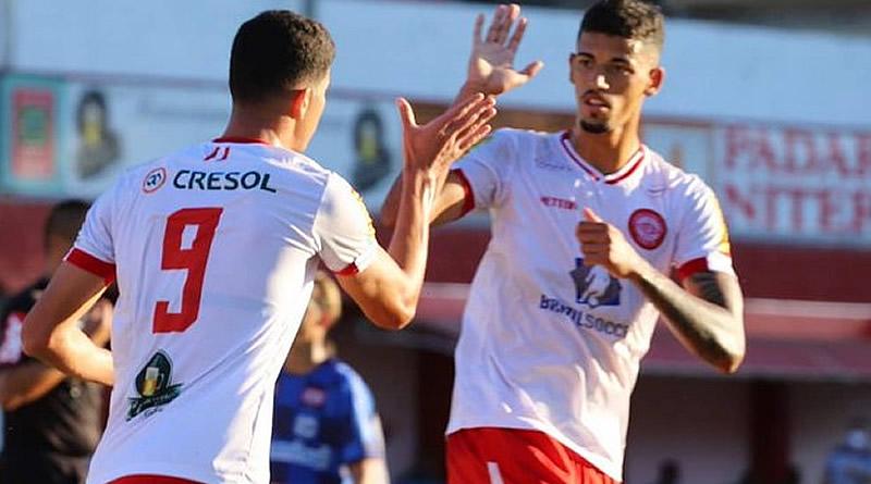 Rubens marcou três para o Tombense | Crédito: Victor Souza / Tombense