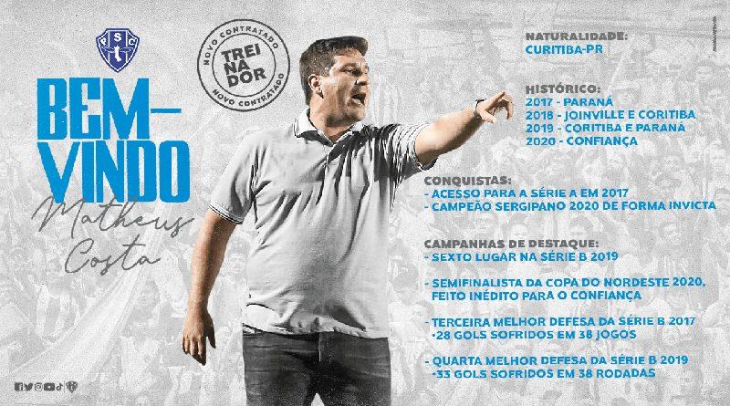 Matheus Costa é o novo técnico do Paysandu