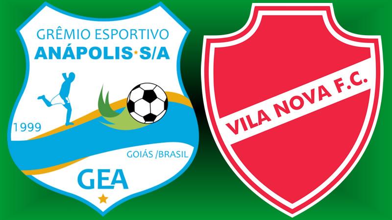 Onde assistir Grêmio Anápolis x Vila Nova ao vivo