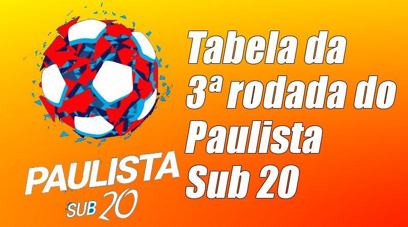 Veja os jogos da terceira rodada do Paulista Sub 20