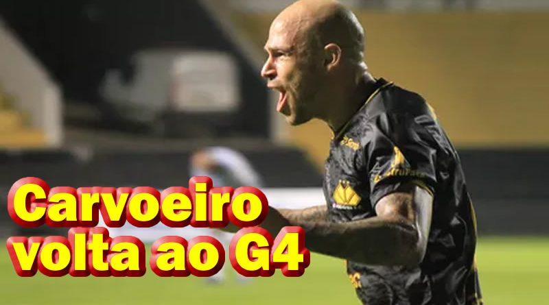 Silvinho marcou os dois gols do Criciúma