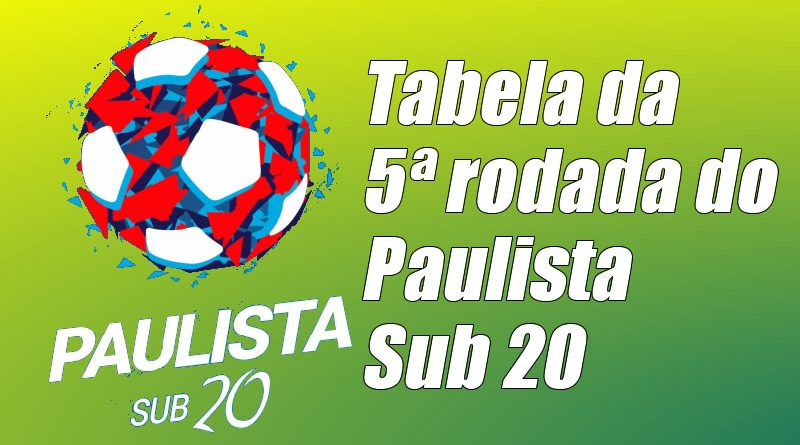 Veja os jogos da quinta rodada do Paulista Sub 20